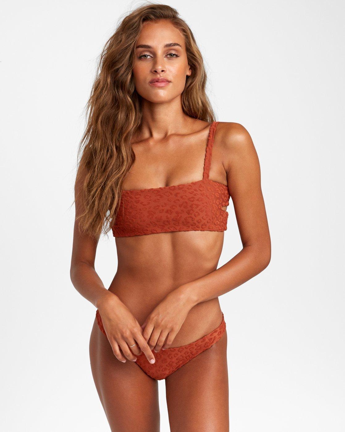 0 Wild Bikini Top Brown R408657 RVCA