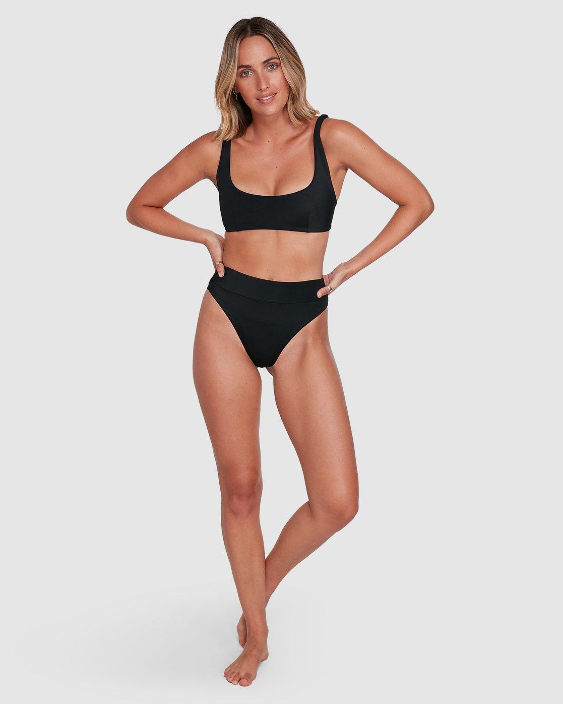 6 Solid High Rise Bikini Bottom Black R408822 RVCA