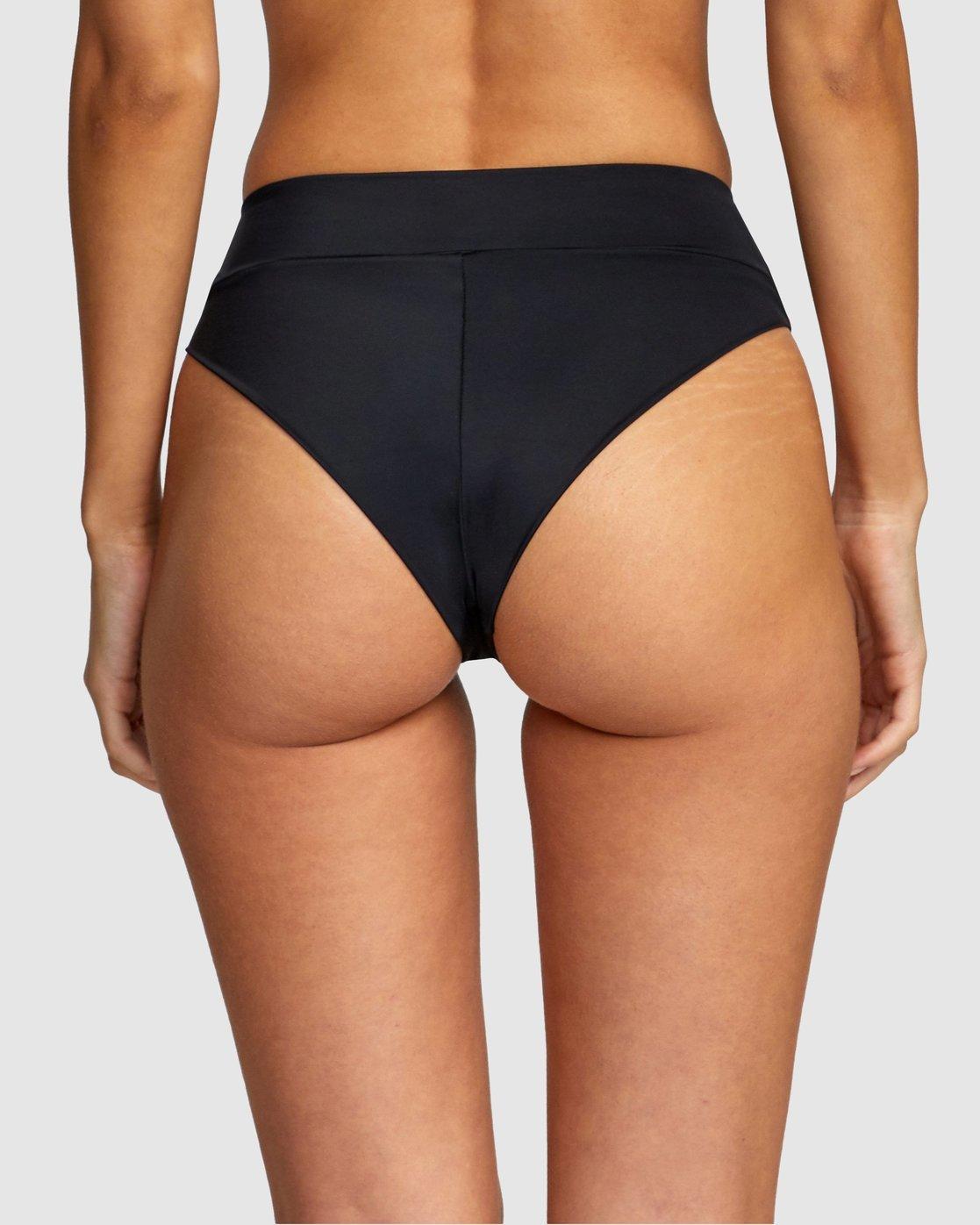 4 Solid High Rise Bikini Bottom Black R408822 RVCA