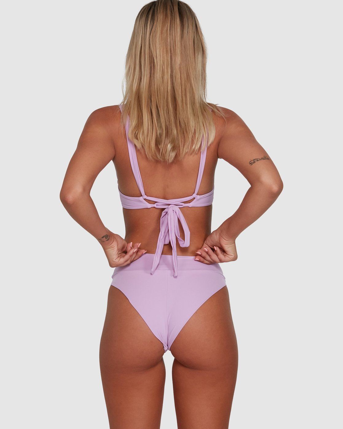 6 Solid High Rise Bikini Bottom Purple R408822 RVCA