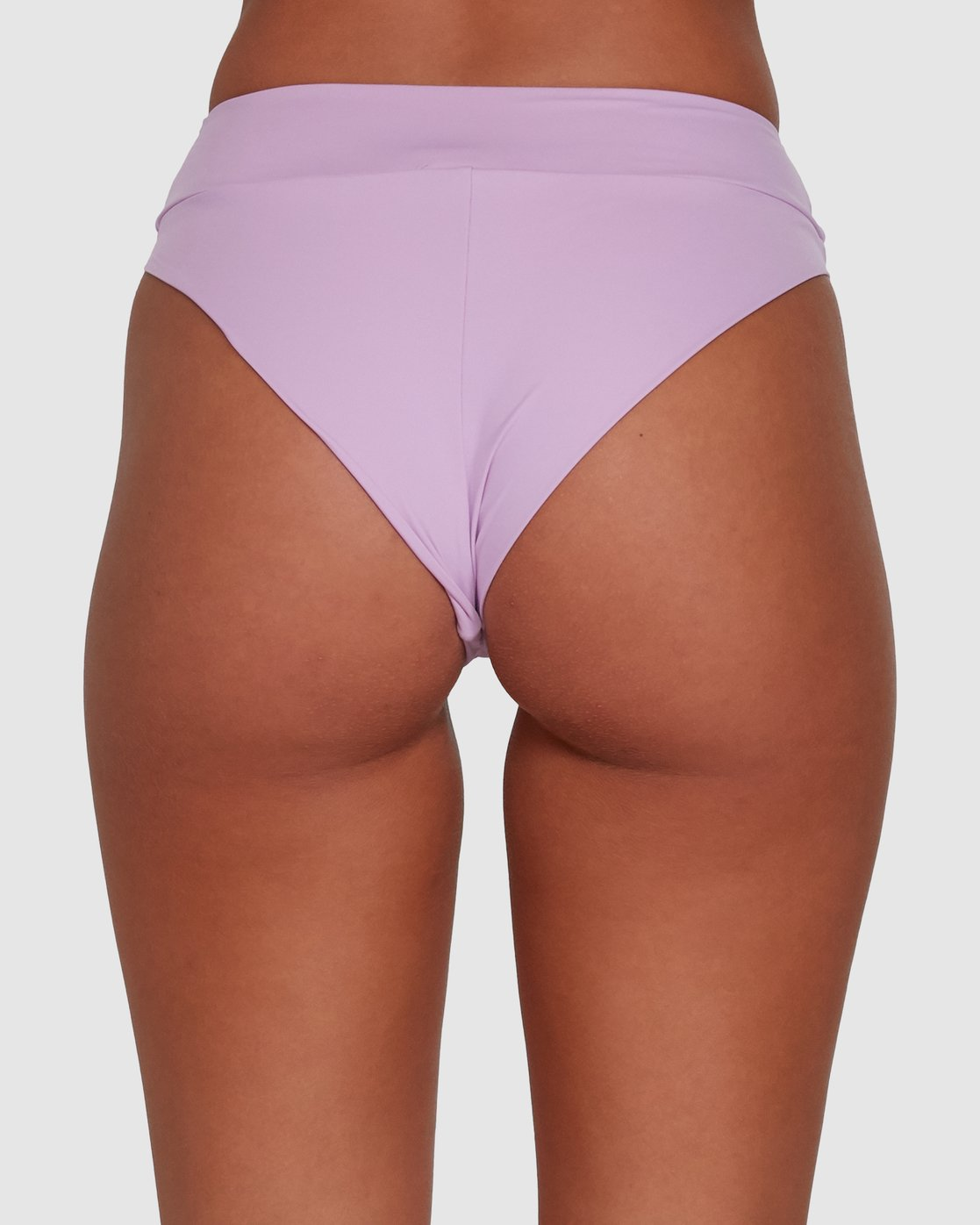 3 Solid High Rise Bikini Bottom Purple R408822 RVCA