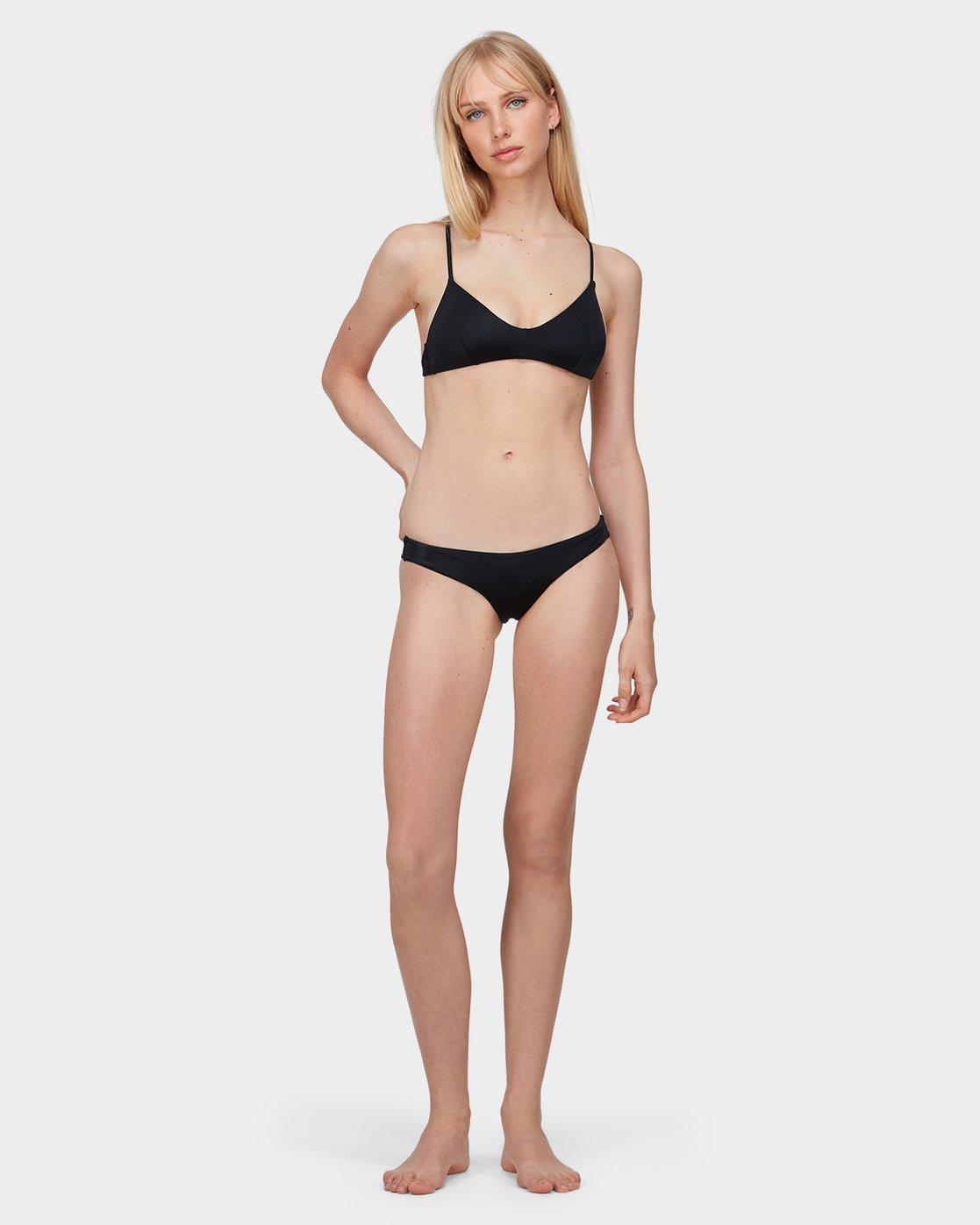 3 Solid Cross Back Bikini Top Black R462818 RVCA