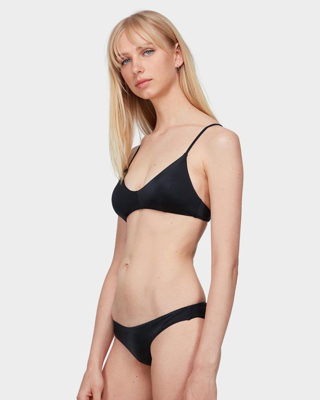 1 Solid Cross Back Bikini Top Black R462818 RVCA