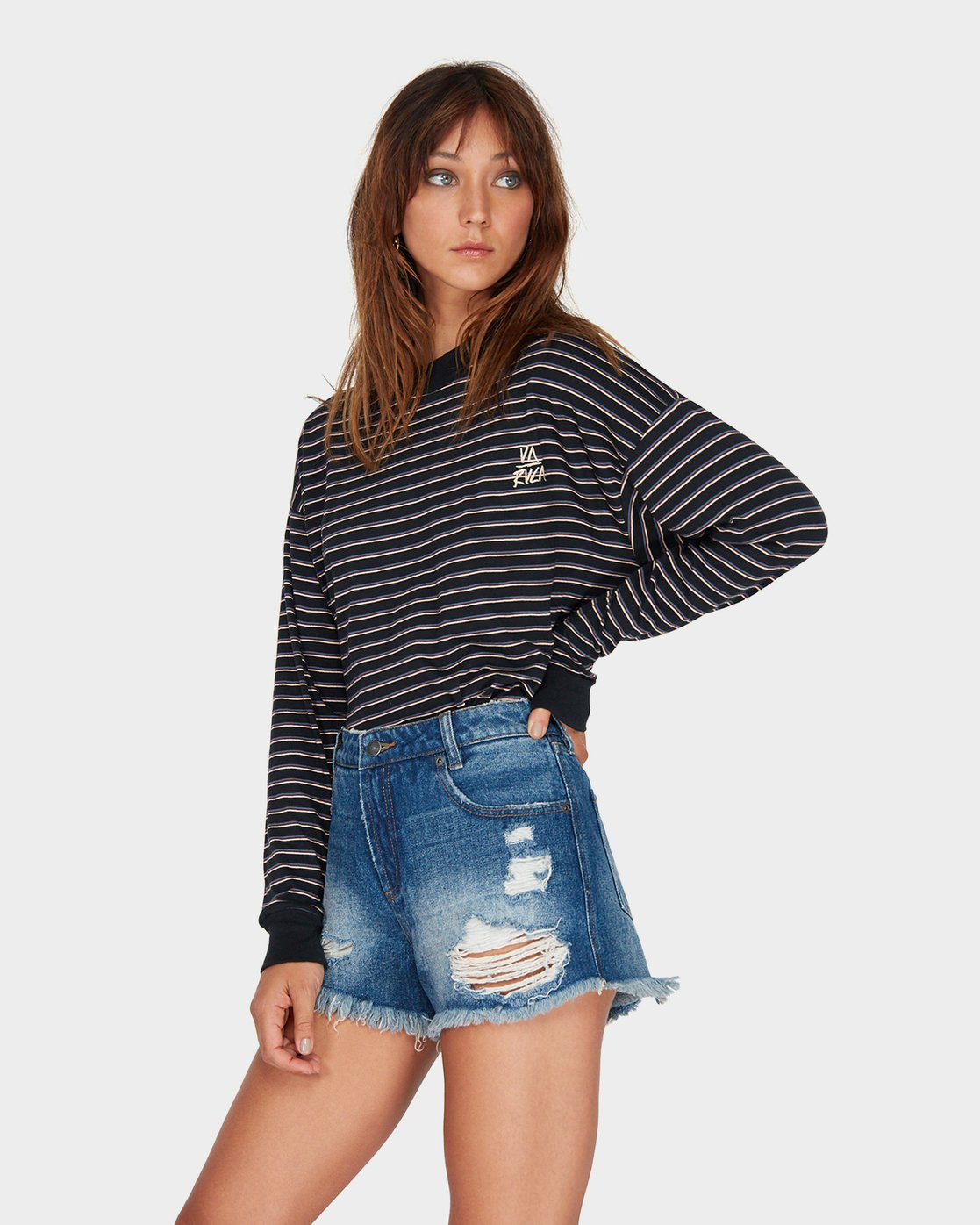 1 The Bf Short Blue R484311 RVCA