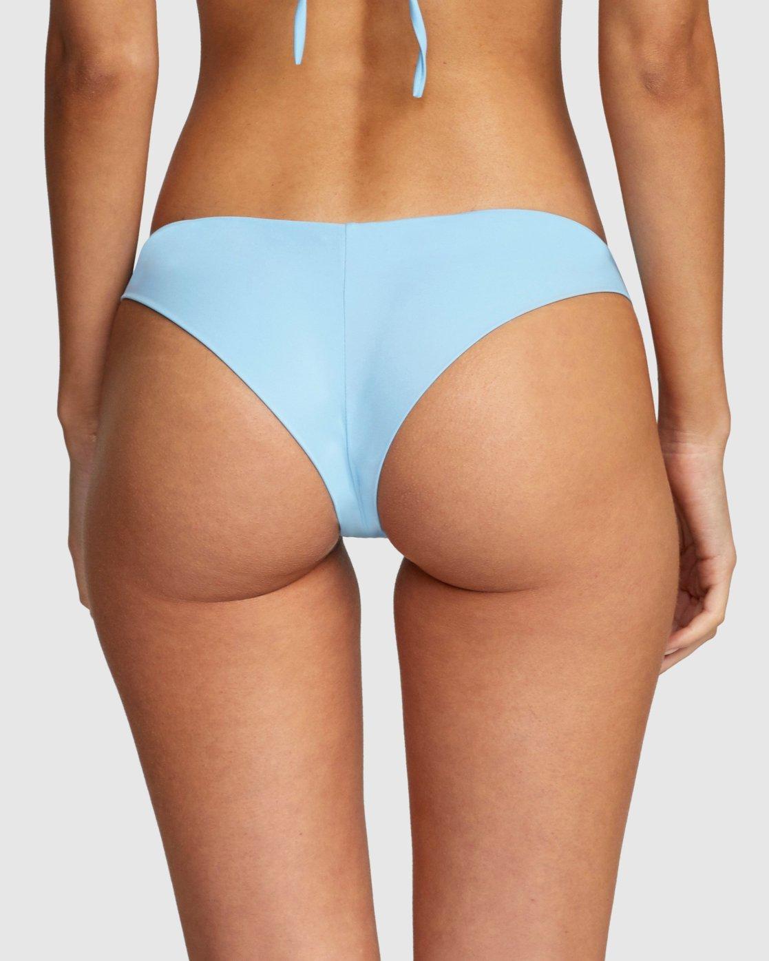 3 Solid Cheeky Bikini Bottom Blue R484826 RVCA