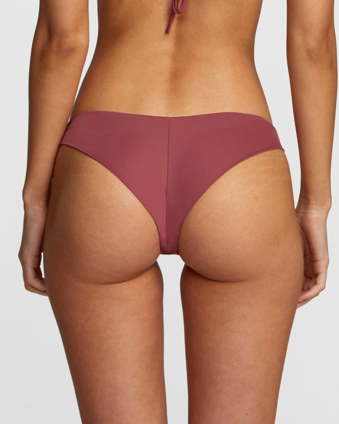 3 Solid Cheeky Bikini Bottom Purple R484826 RVCA