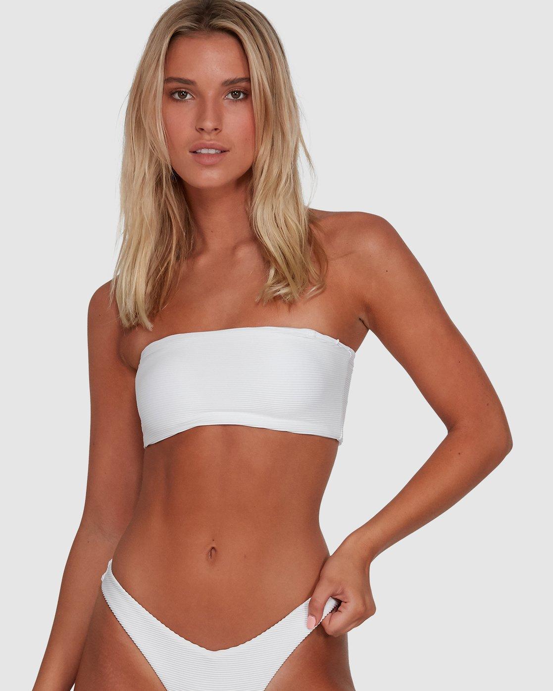 7 Solid Cheeky Bikini Bottom Black R484826 RVCA