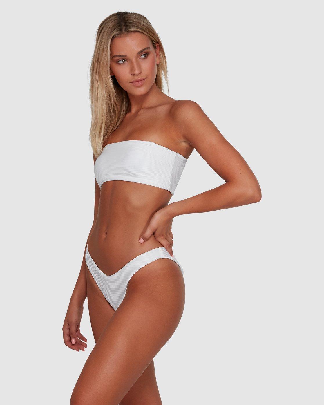 3 Solid Cheeky Bikini Bottom Black R484826 RVCA