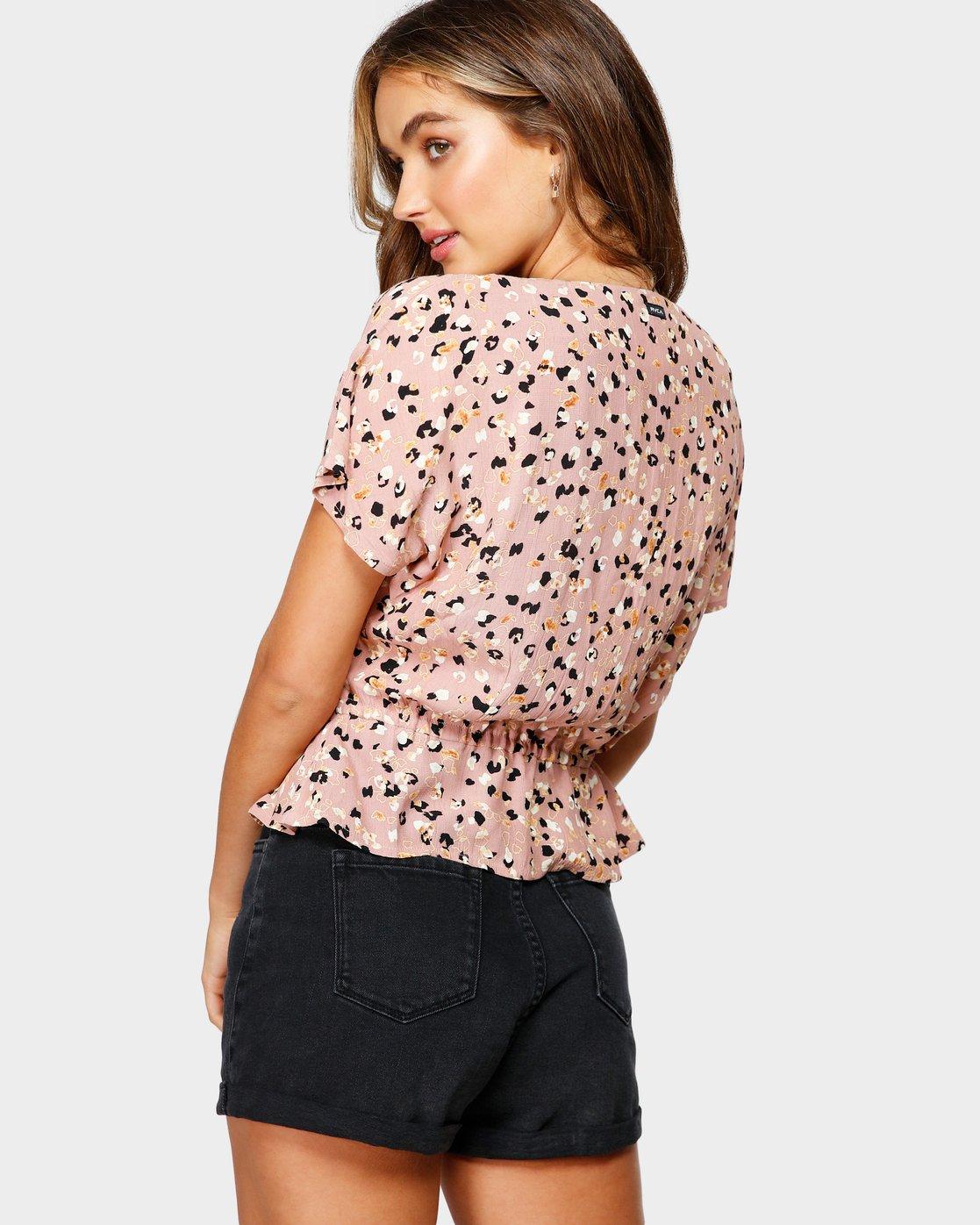 3 Farren Short Sleeve Shirt Brown R491183 RVCA
