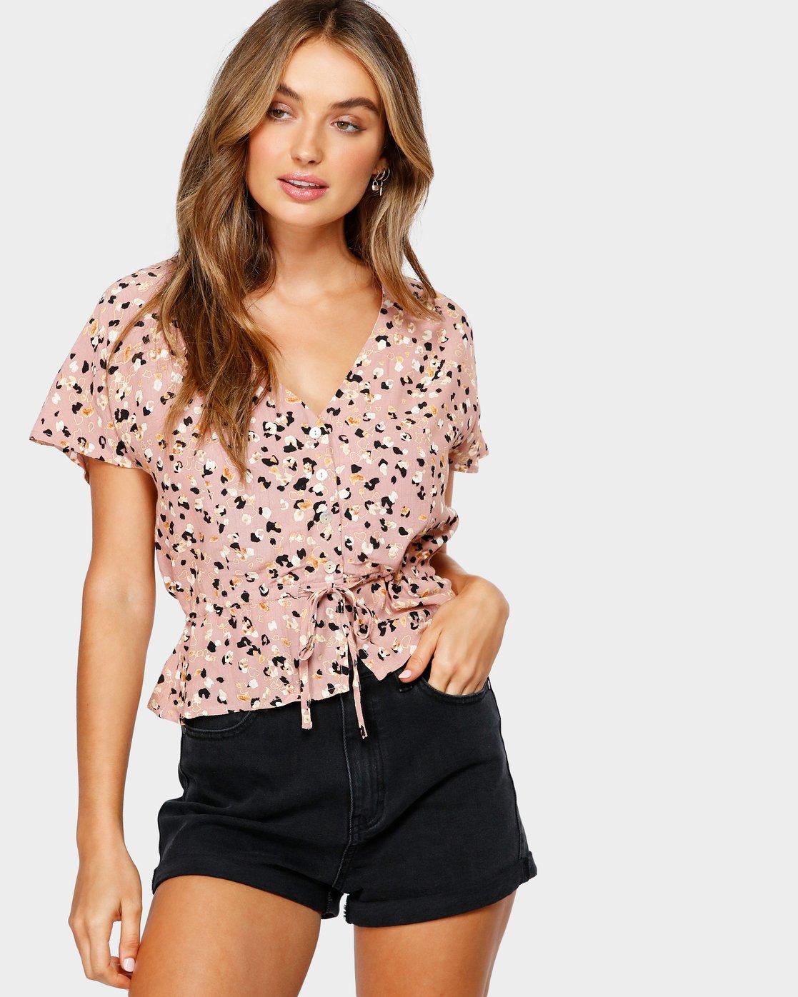 0 Farren Short Sleeve Shirt Brown R491183 RVCA