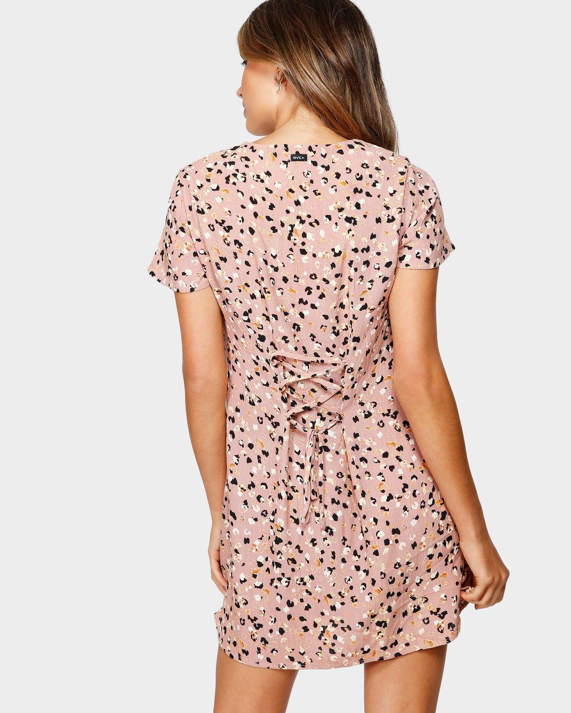 3 Pebble Dress Brown R491756 RVCA