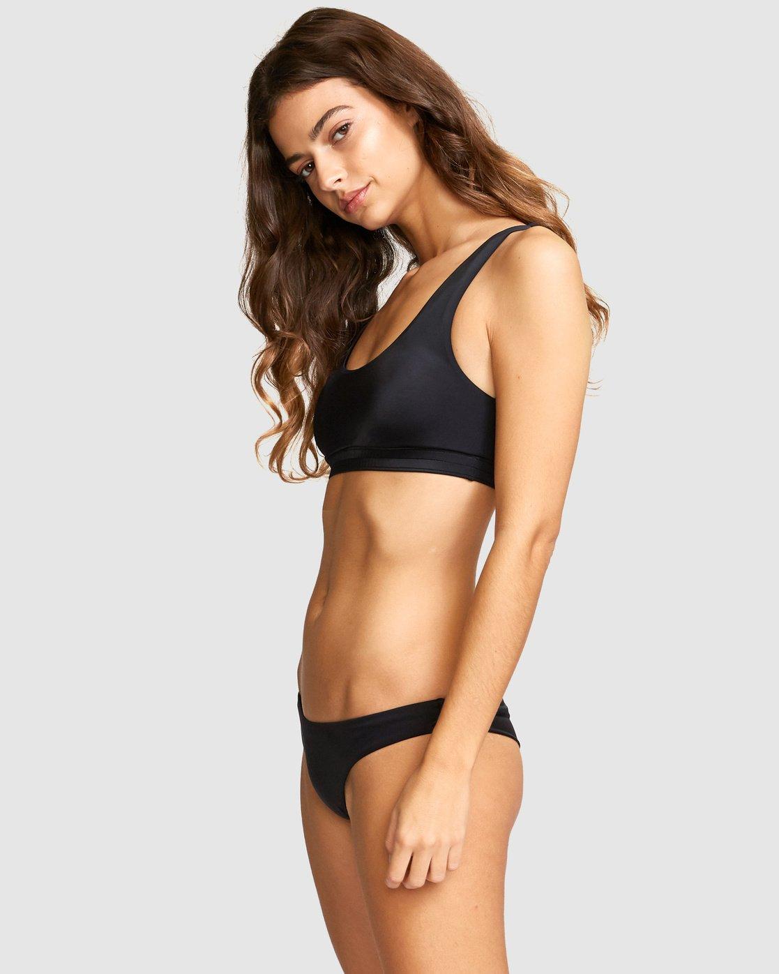 1 Solid Tank Bikini Top Black R491805 RVCA