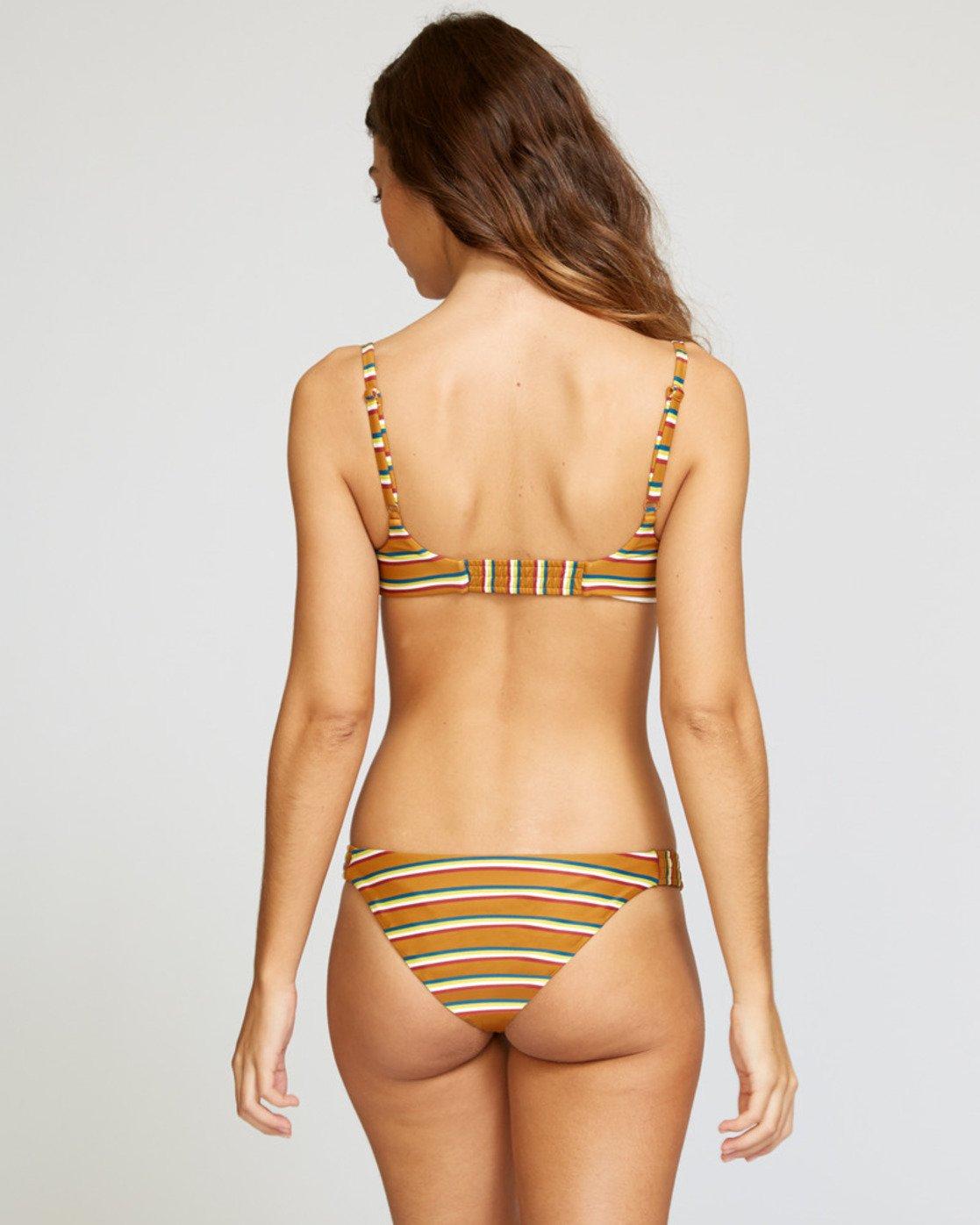 2 Retro Row Medium Bikini Bottom Brown R491821 RVCA