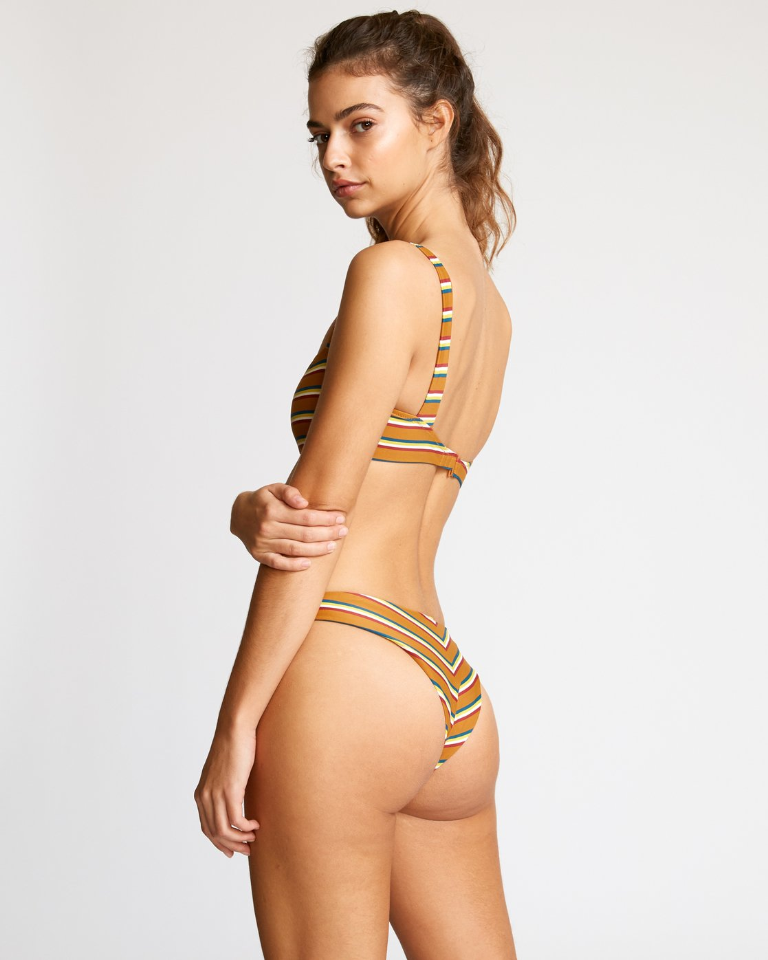 0 Retro Row French Bikini Bottom Brown R491822 RVCA