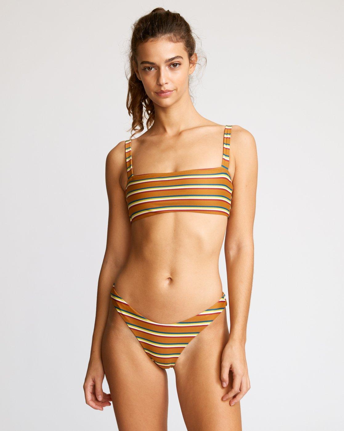3 Retro Row French Bikini Bottom Brown R491822 RVCA
