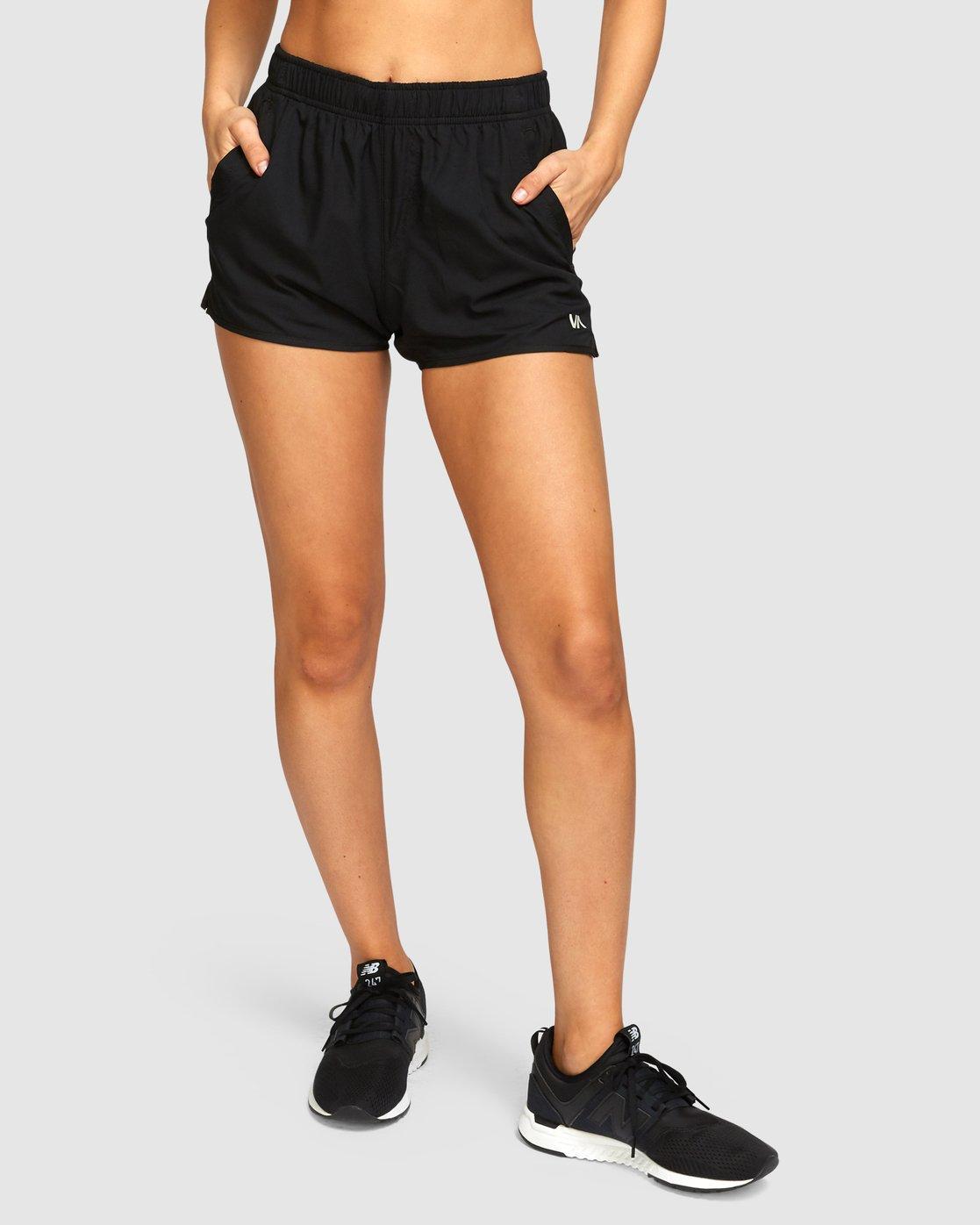 0 Womens Yogger Stretch Shorts Black R493313 RVCA