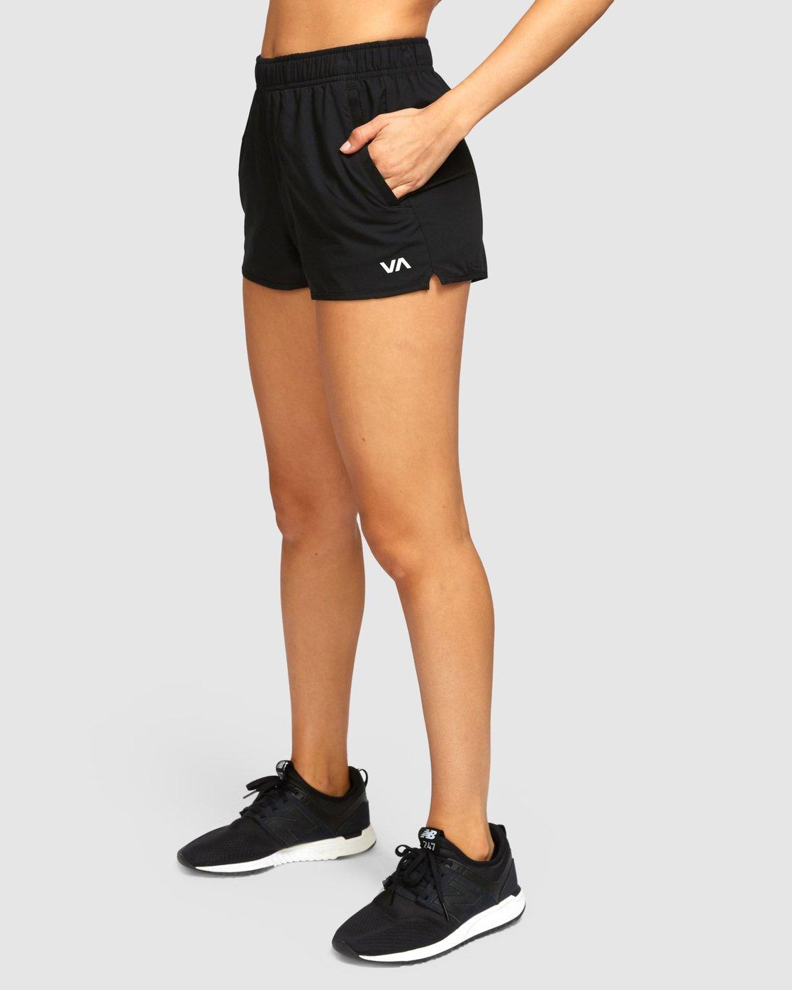 1 Womens Yogger Stretch Shorts Black R493313 RVCA