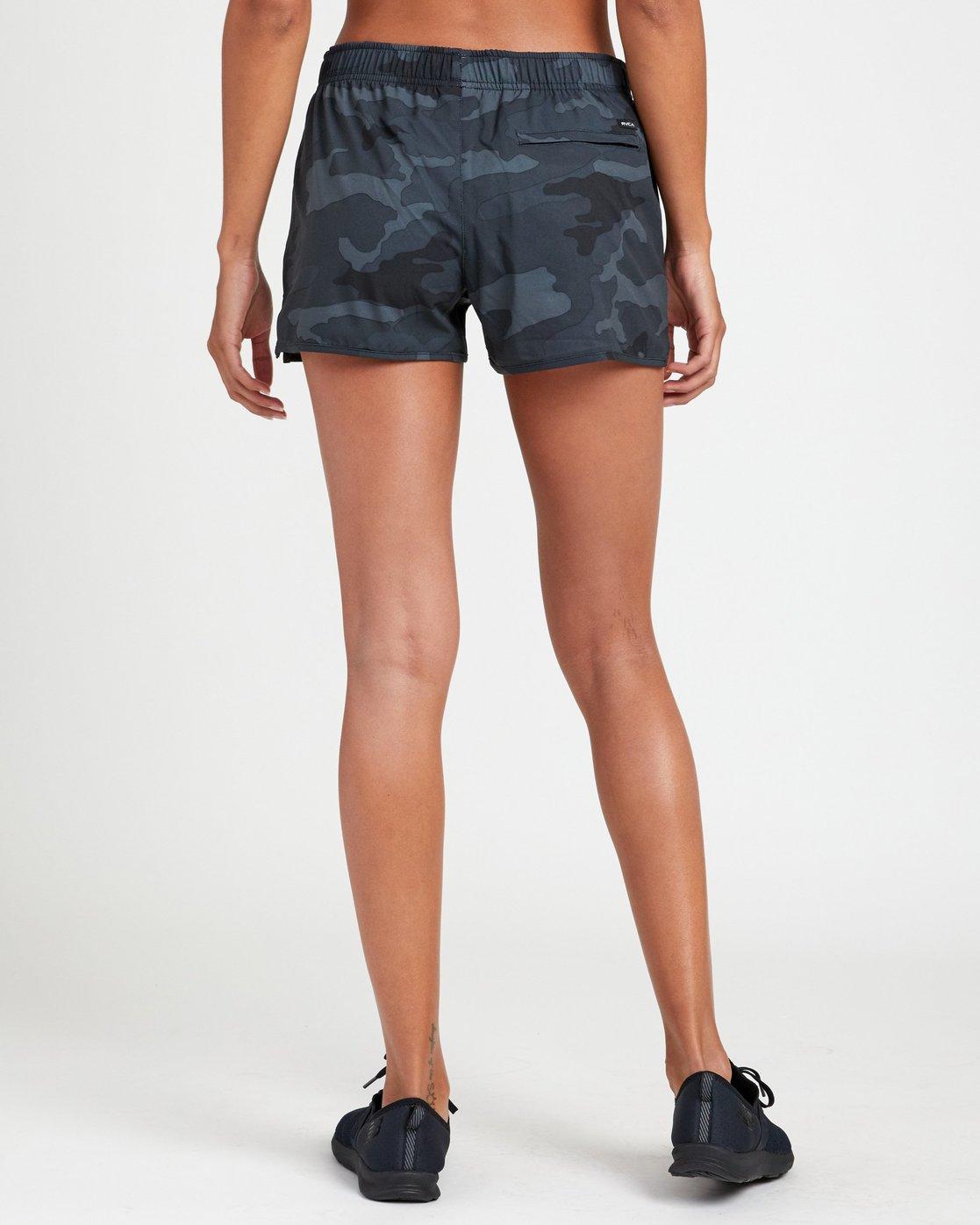 1 Womens Yogger Stretch Shorts Camo R493313 RVCA