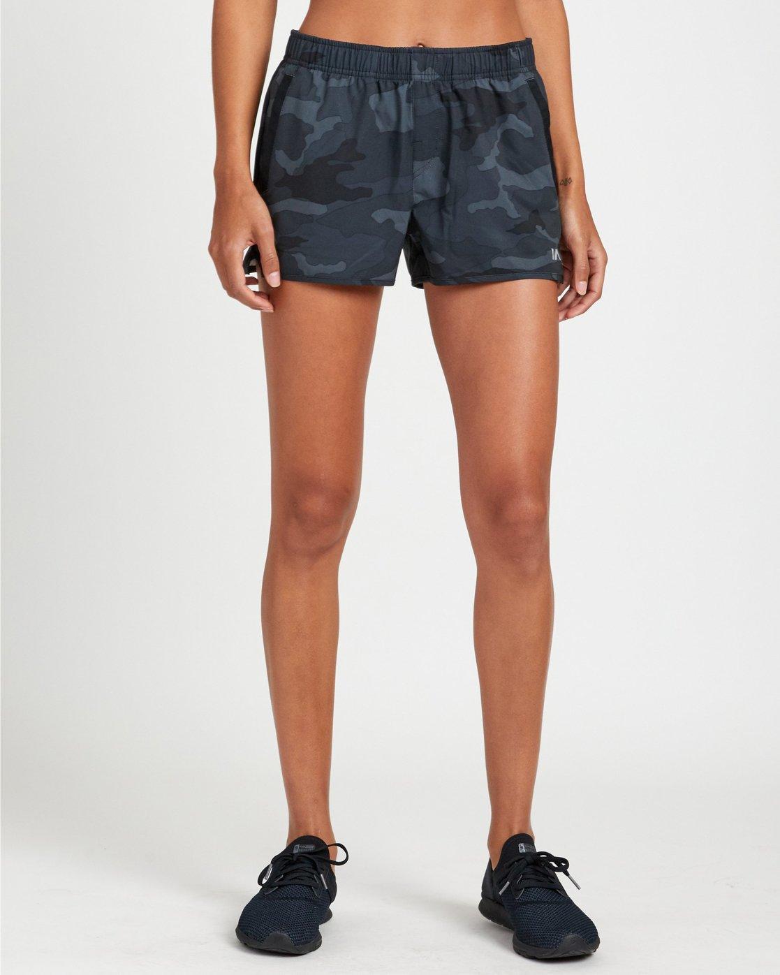 0 Womens Yogger Stretch Shorts Camo R493313 RVCA