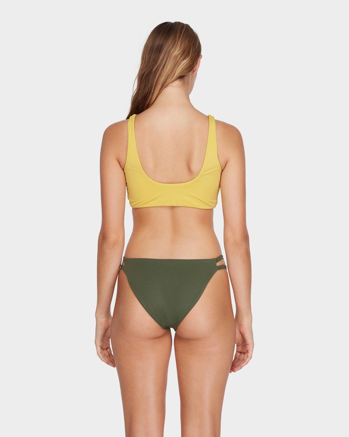 2 Solid Crop Bikini Top Yellow R493801 RVCA