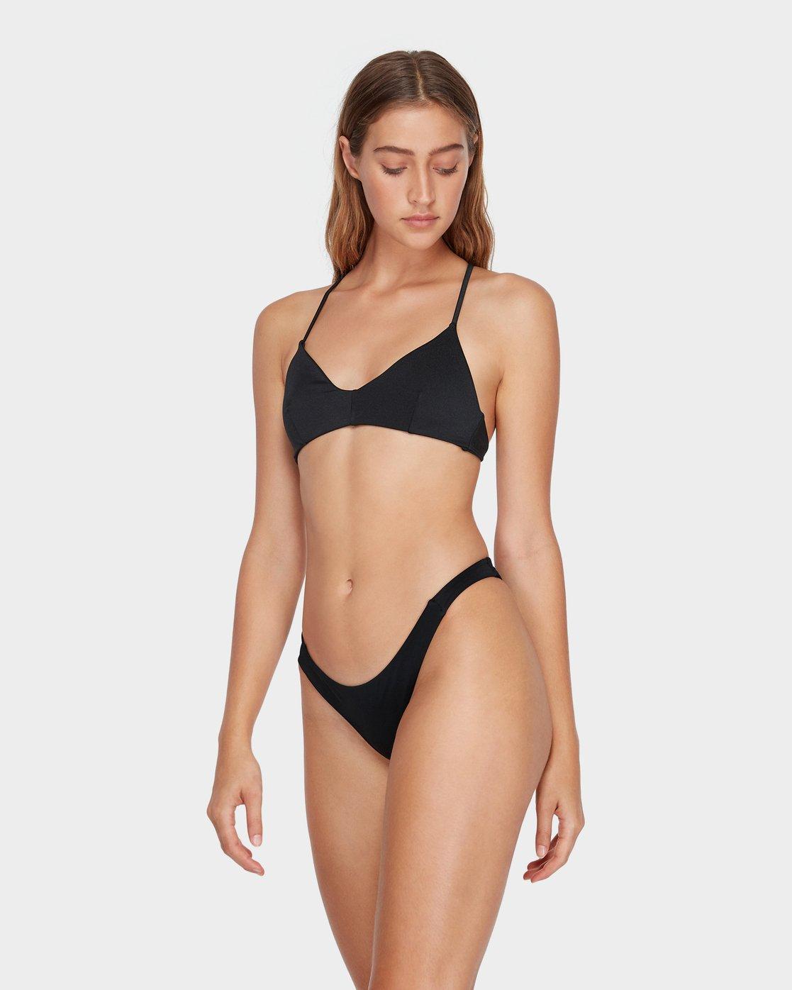 1 Solid Skimpy Bikini Pant Black R493802 RVCA
