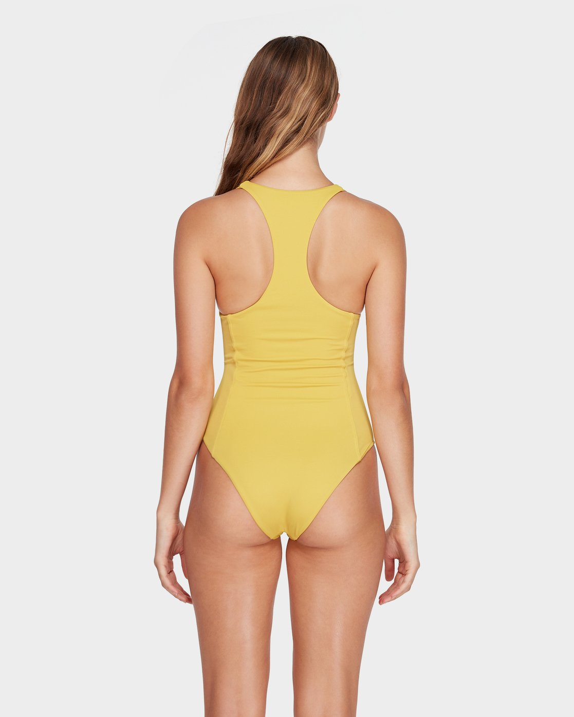 2 Solid Lace Front One Piece Yellow R493804 RVCA