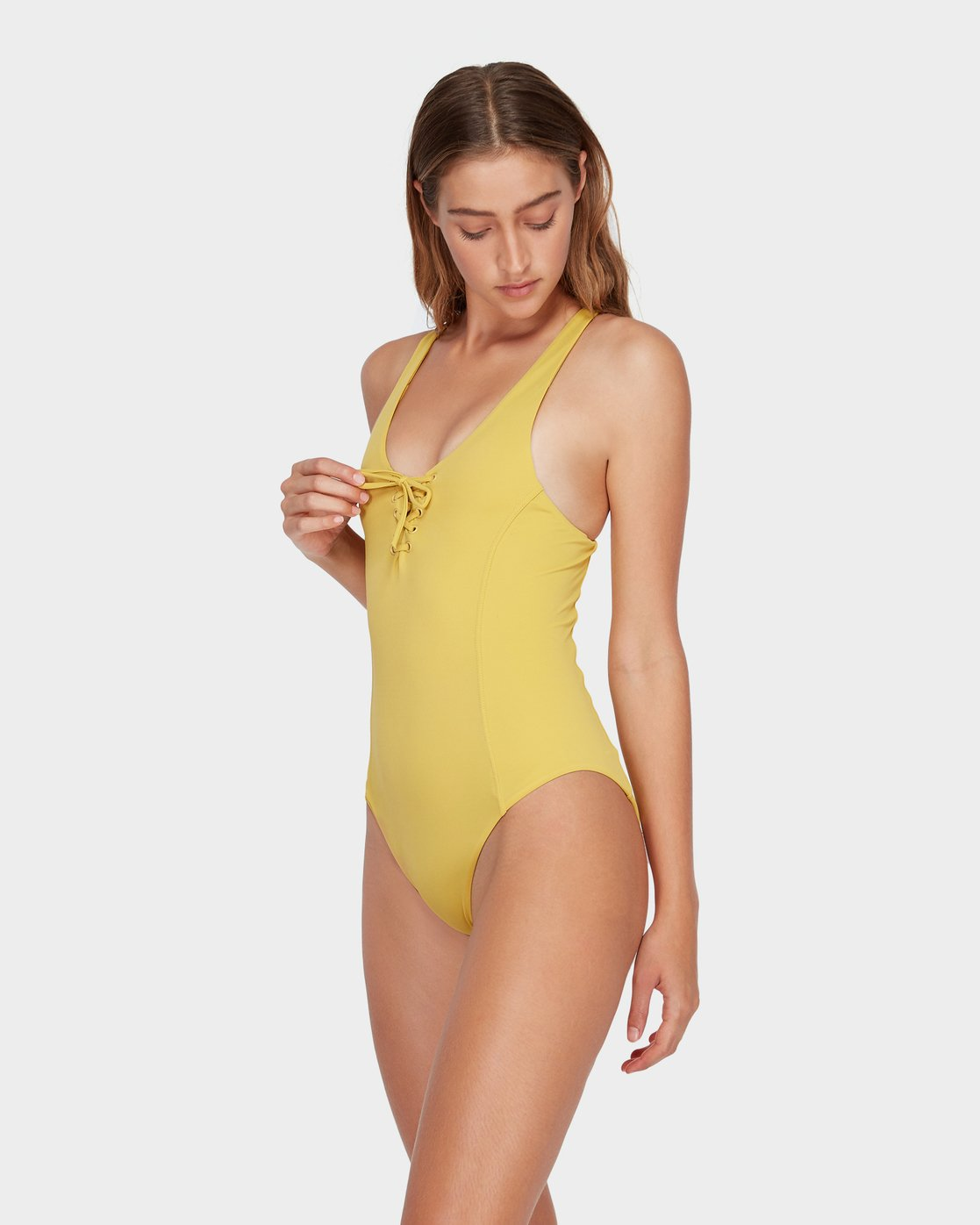 1 Solid Lace Front One Piece Yellow R493804 RVCA
