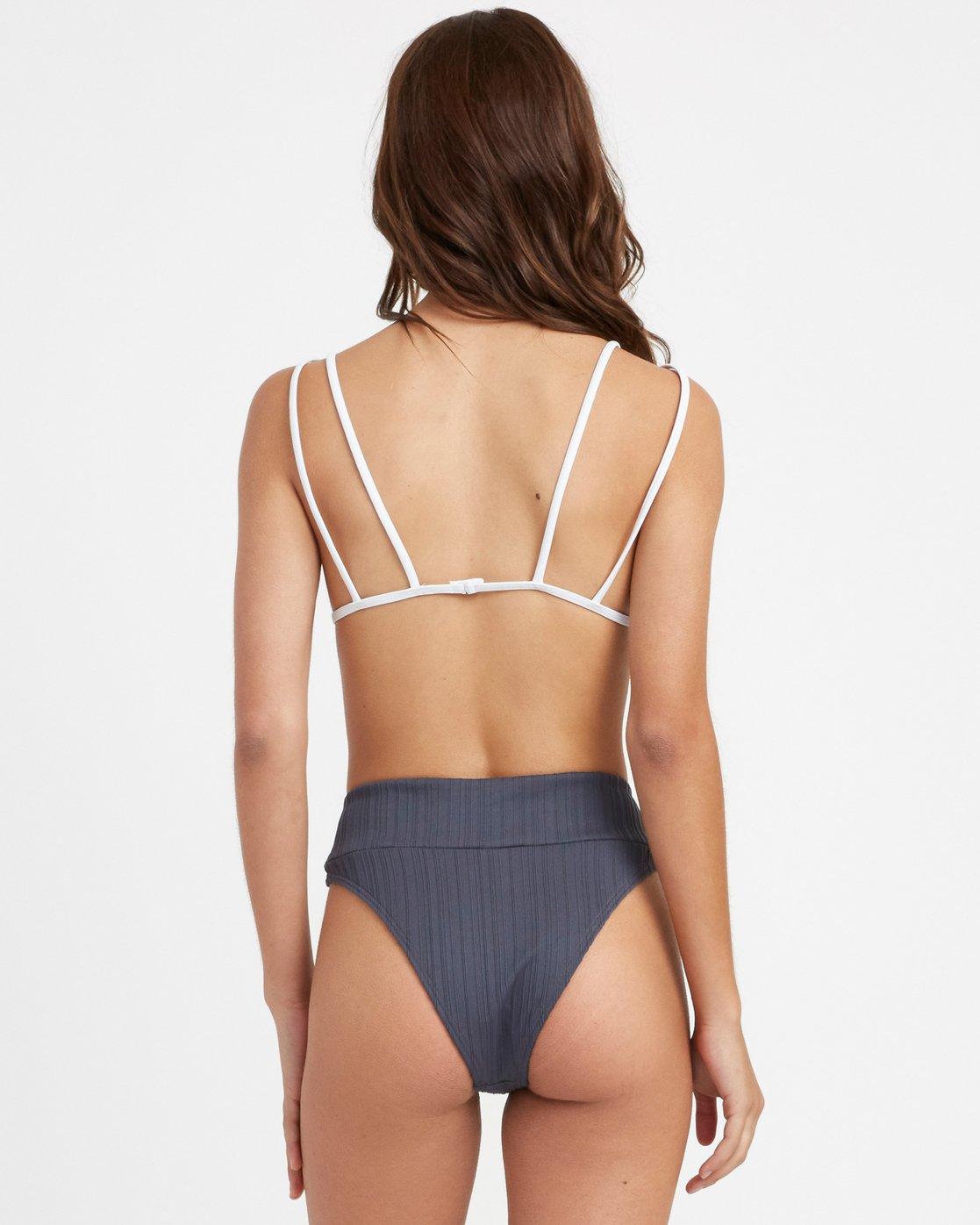 2 Linear Bralette Bikini Top Grey R493807 RVCA