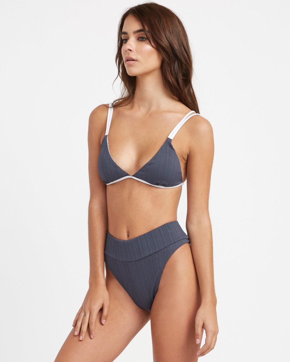 1 Linear Bralette Bikini Top Grey R493807 RVCA