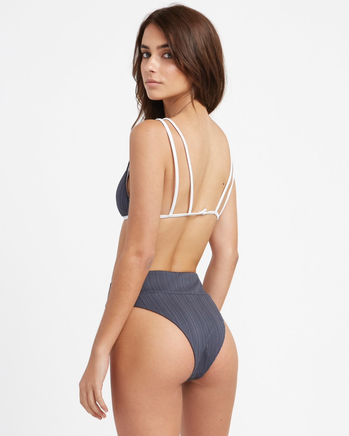 0 Linear High Skimpy Bikini Bottom Grey R493808 RVCA