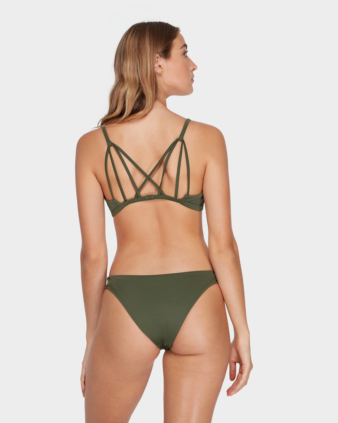 0 Solid Medium Loop Side Bikini Pant Green R493894 RVCA