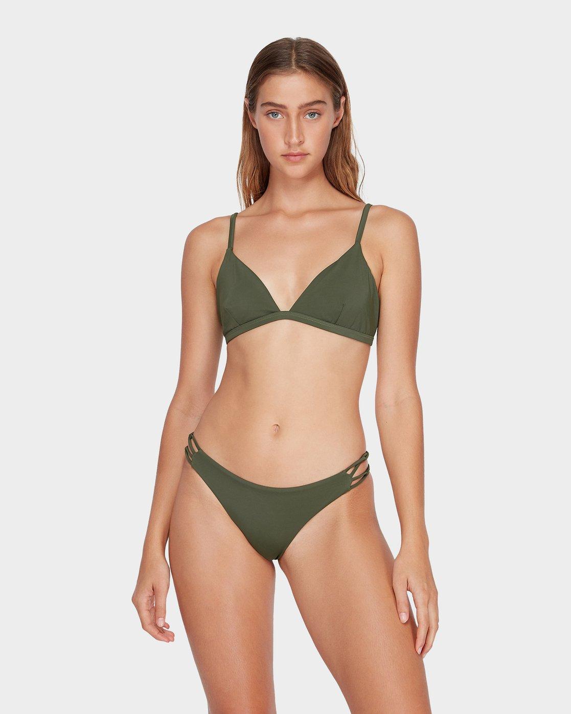 2 Solid Medium Loop Side Bikini Pant Green R493894 RVCA
