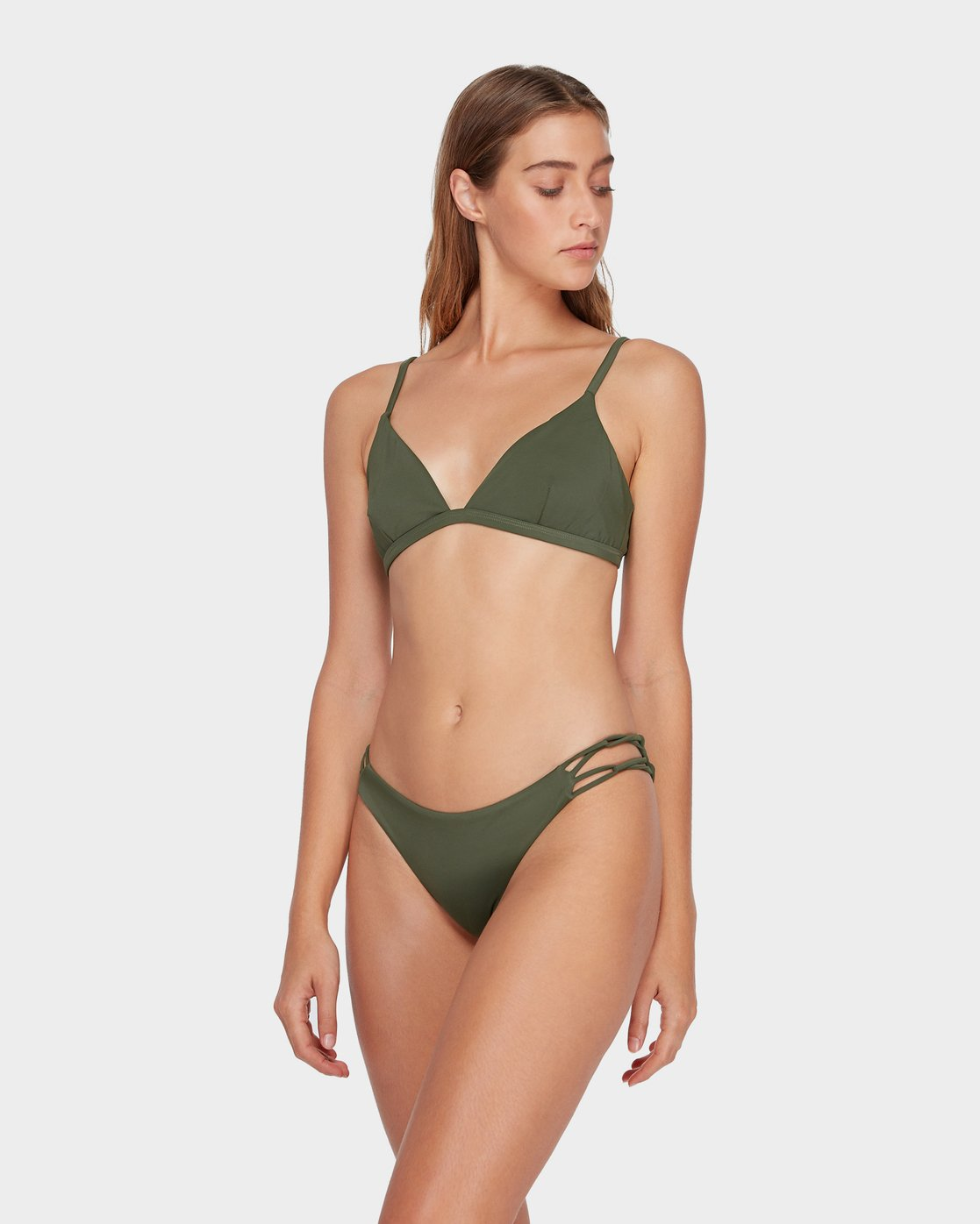 1 Solid Medium Loop Side Bikini Pant Green R493894 RVCA