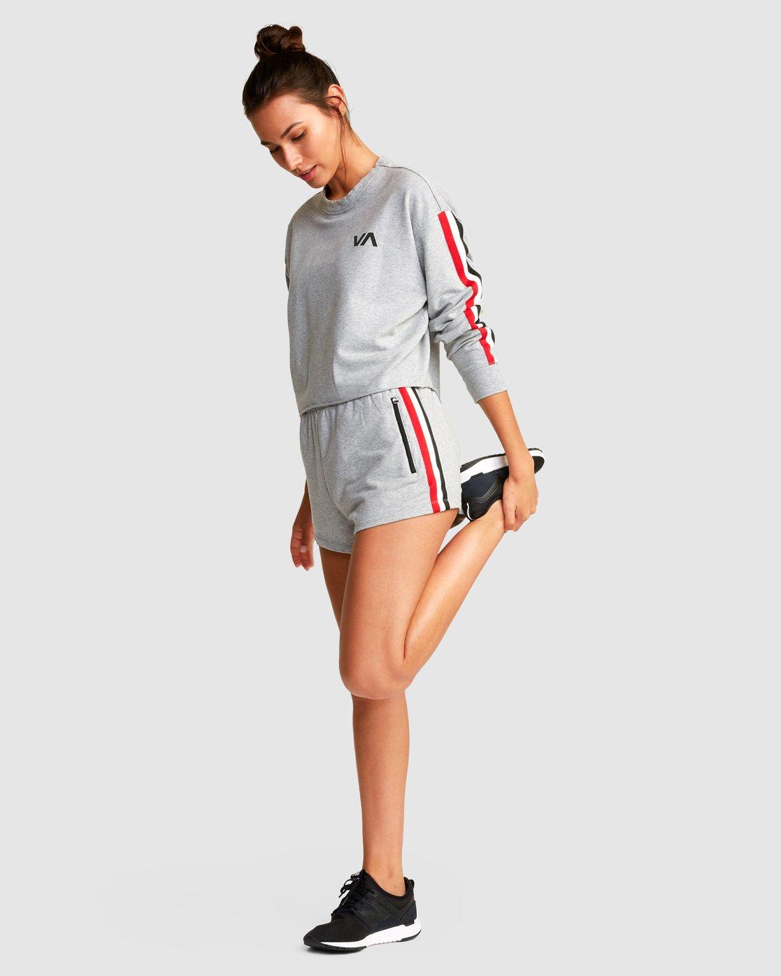 3 Ringside Sweatshirt Grey R494151 RVCA