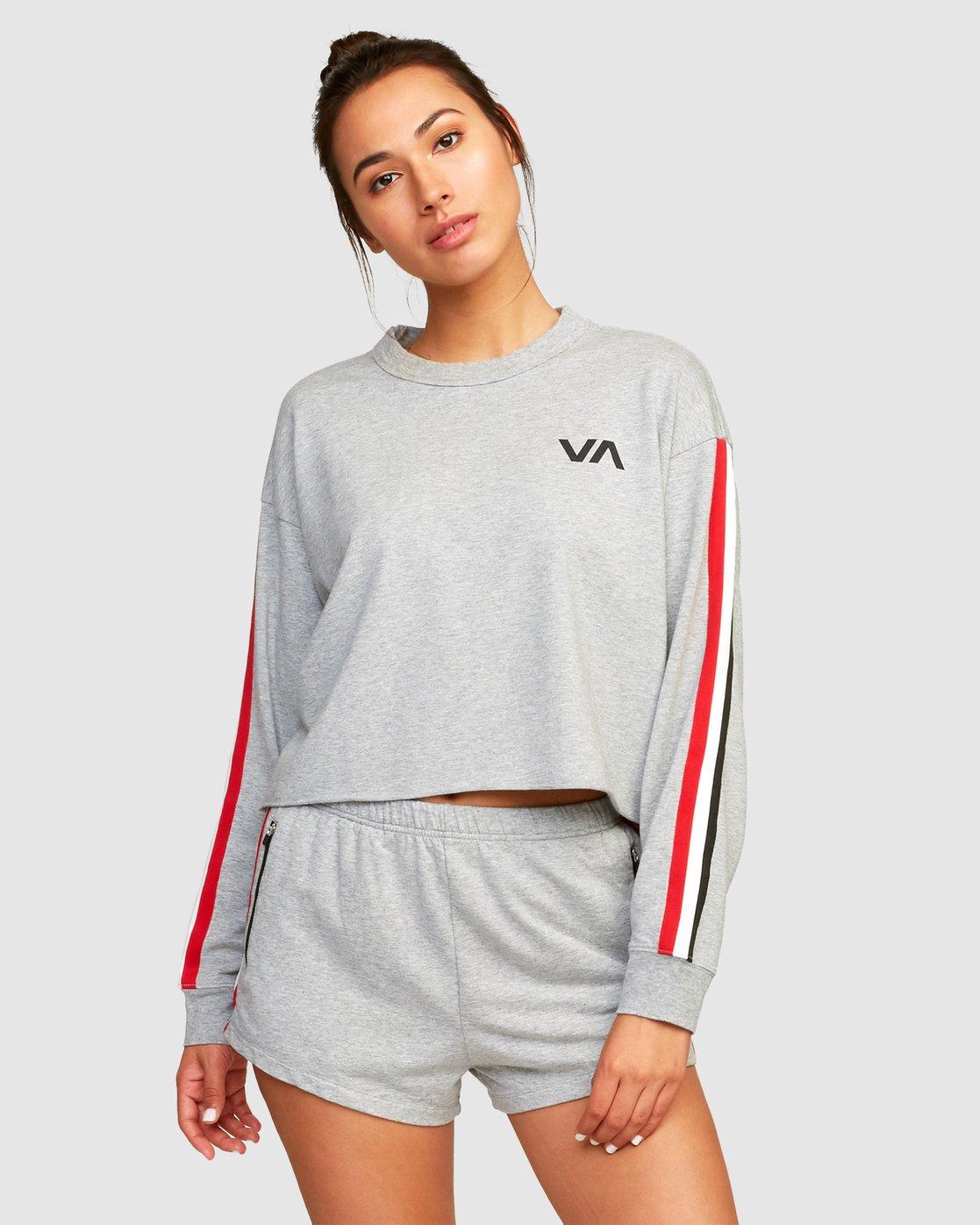 0 Ringside Sweatshirt Grey R494151 RVCA