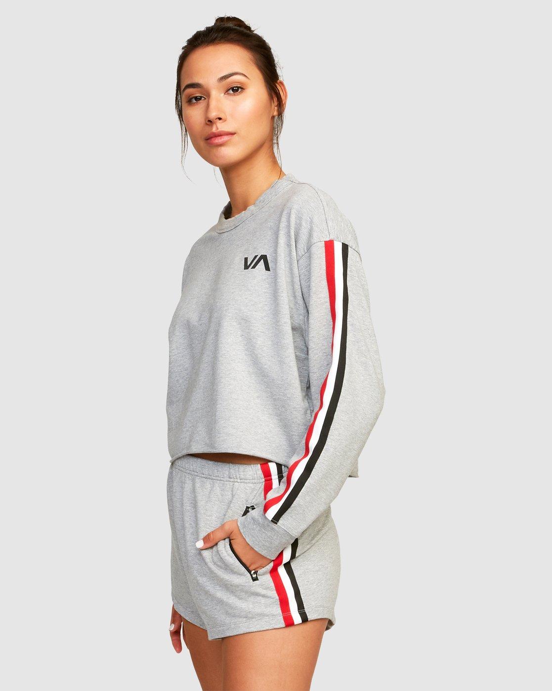 1 Ringside Sweatshirt Grey R494151 RVCA