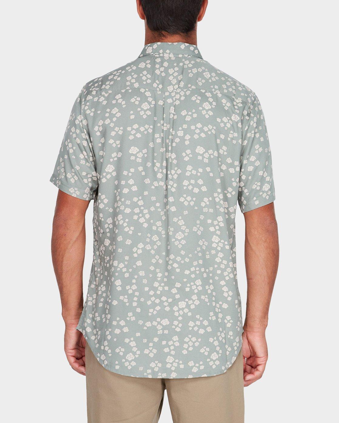 2 Yth RVCA Rosa Short Sleeve Shirt Green R582181 RVCA