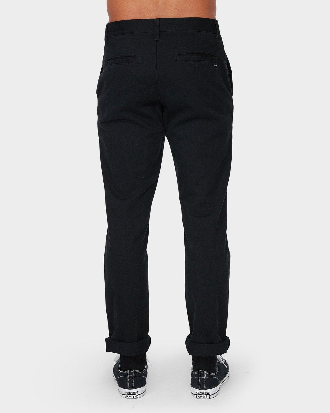 2 Weekday Stretch Pant Black R593271 RVCA