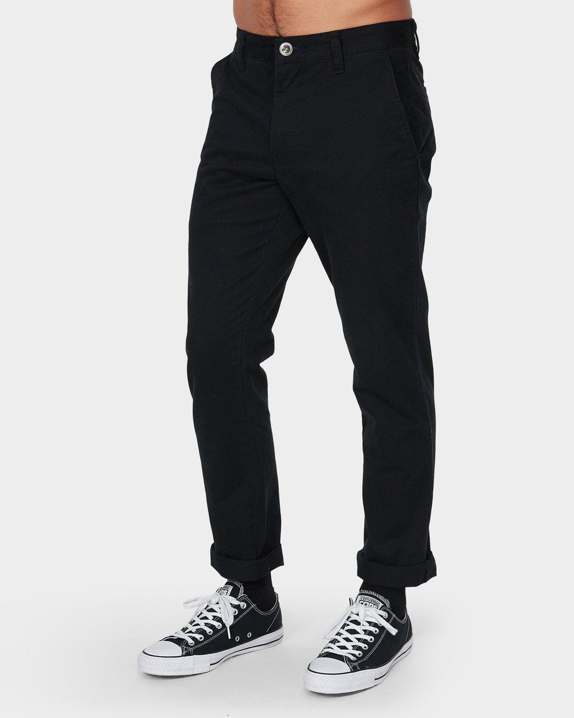 0 Weekday Stretch Pant Black R593271 RVCA