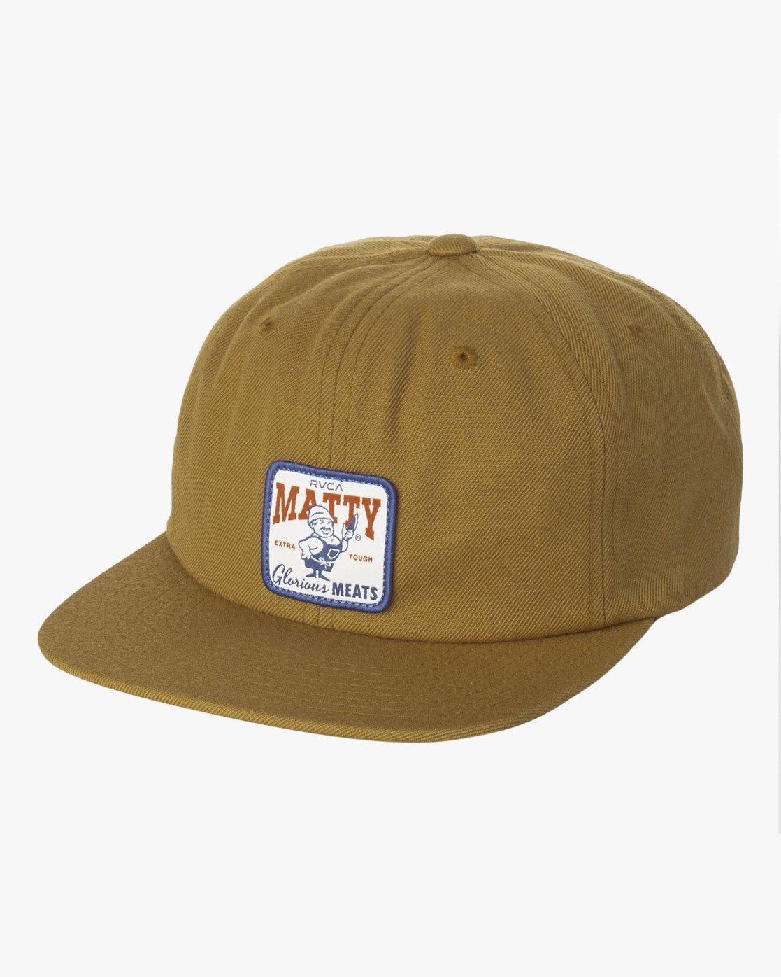 0 Matty Matheson - Snapback Cap for Men Brown R5CPMARVW9 RVCA