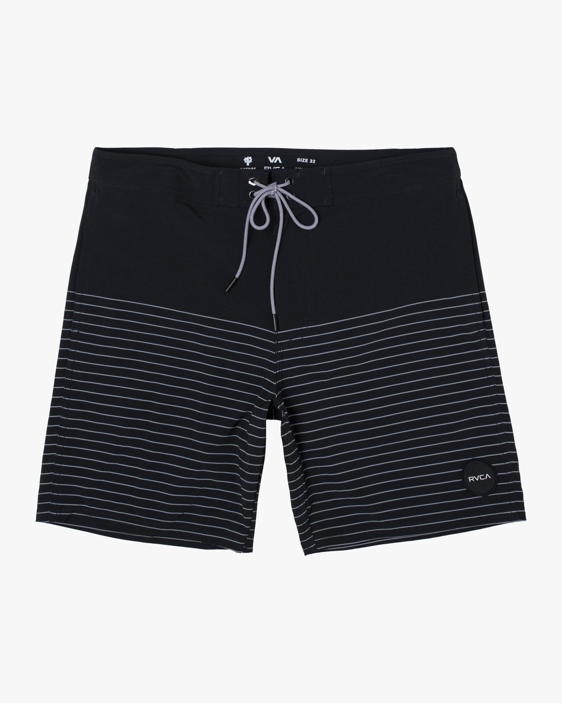 "0 Curren Trunk 18"" - Striped Board Shorts for Men Black S1BSRCRVP0 RVCA"