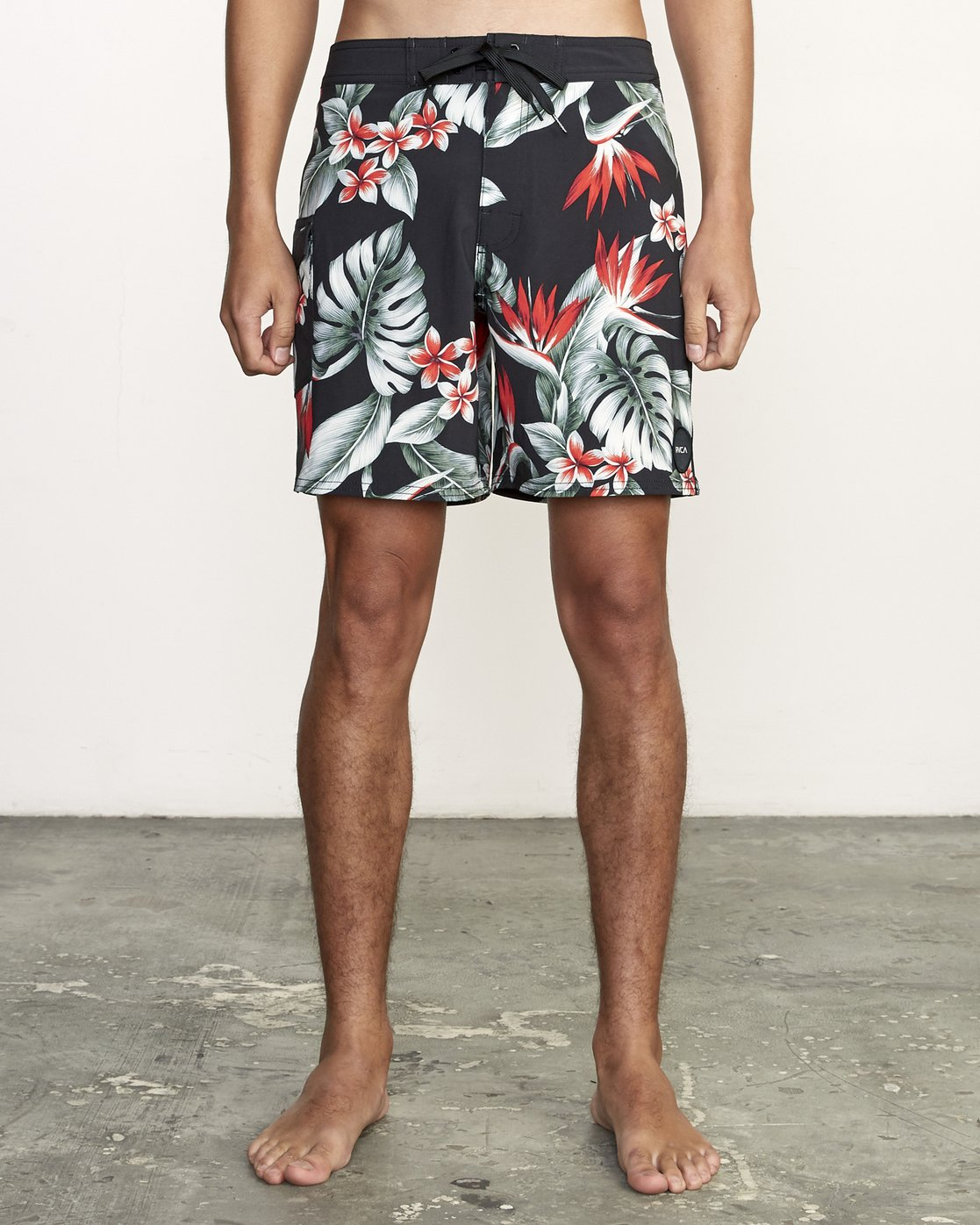 "1 Splender Trunk 17"" - Printed Board Shorts for Men Black S1BSRDRVP0 RVCA"