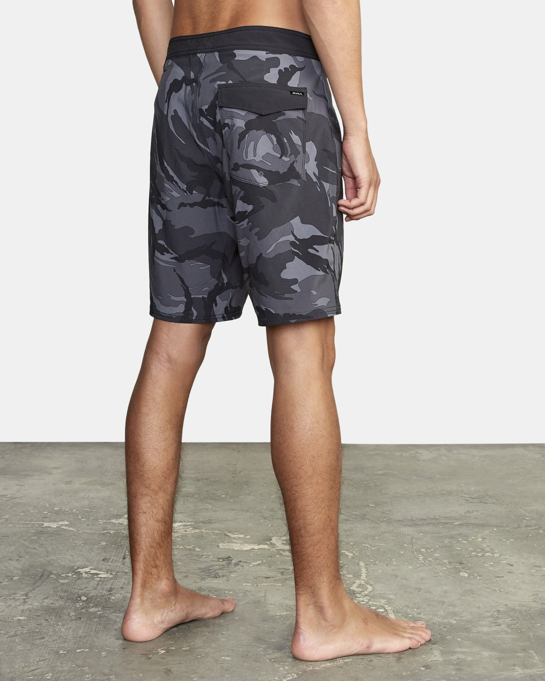 4 VA Trunk Print - Board Shorts for Men Black S1BSRJRVP0 RVCA