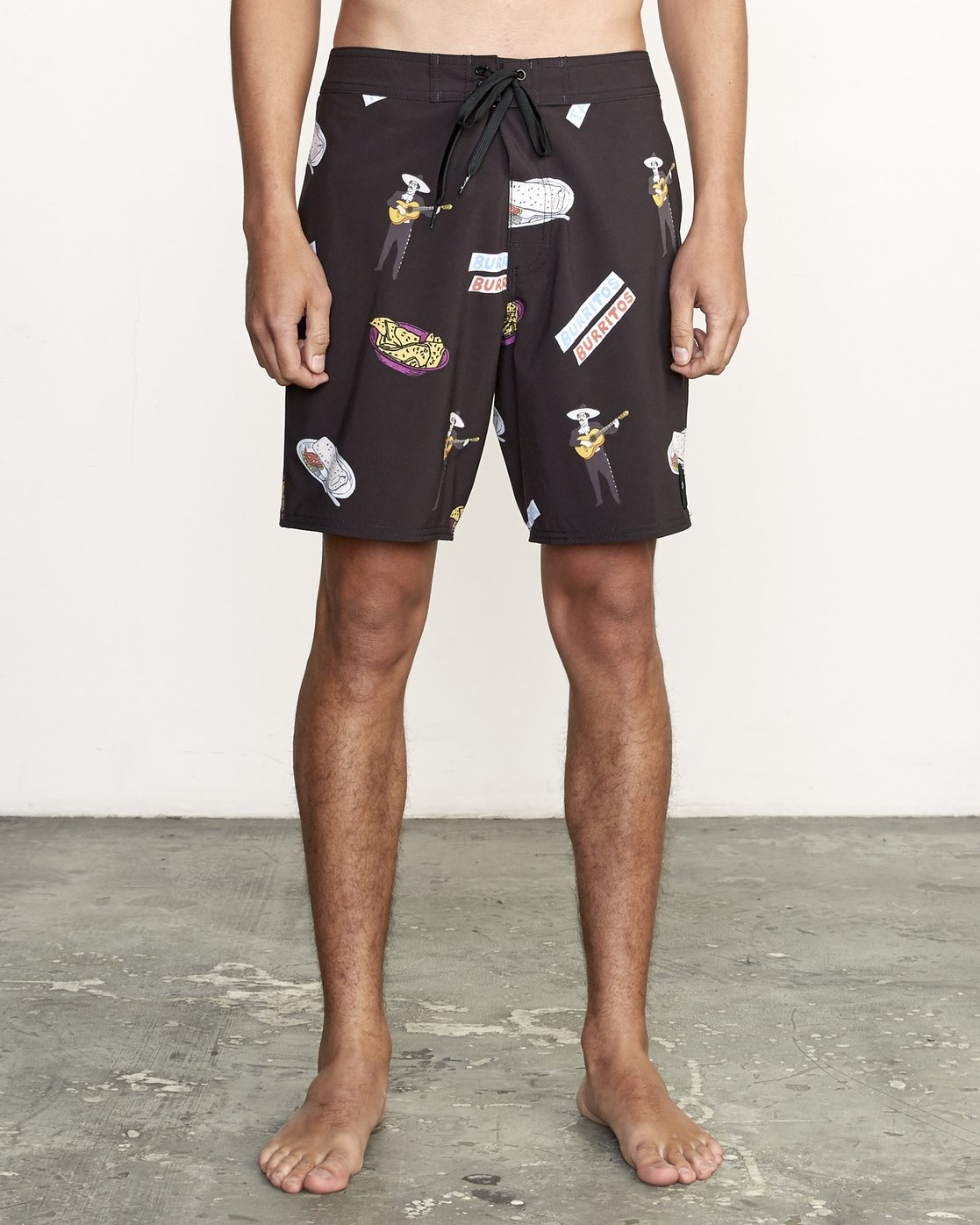 "1 Hot Fudge Trunk 18"" - Printed Board Shorts for Men Black S1BSRMRVP0 RVCA"