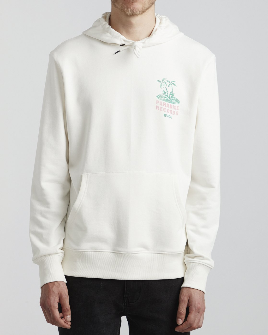 2 Paradise Records  - Hoodie for Hoodie White S1HORKRVP0 RVCA