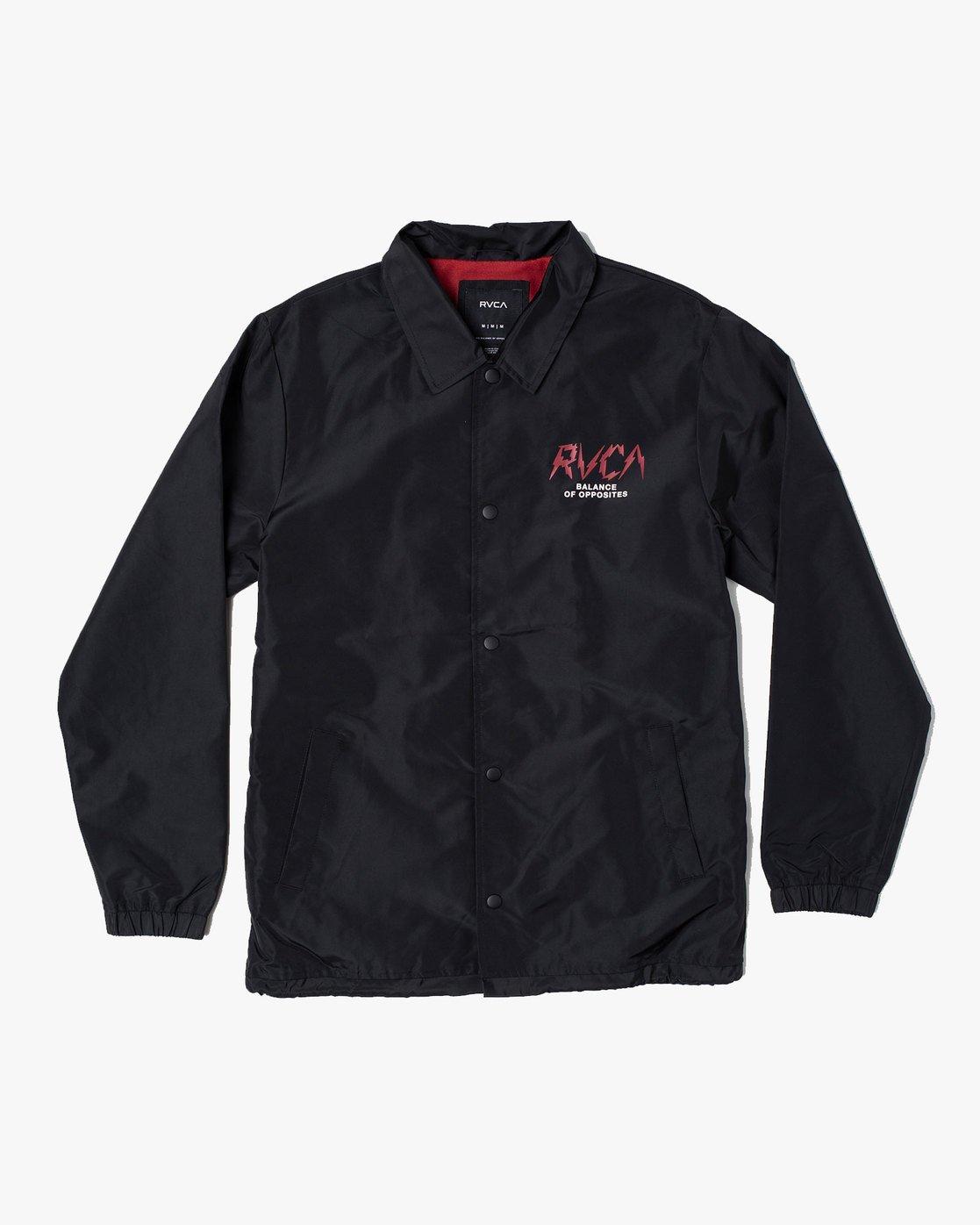 1 Berni Coaches  - Coaches Jacket for Men Black S1JKRDRVP0 RVCA