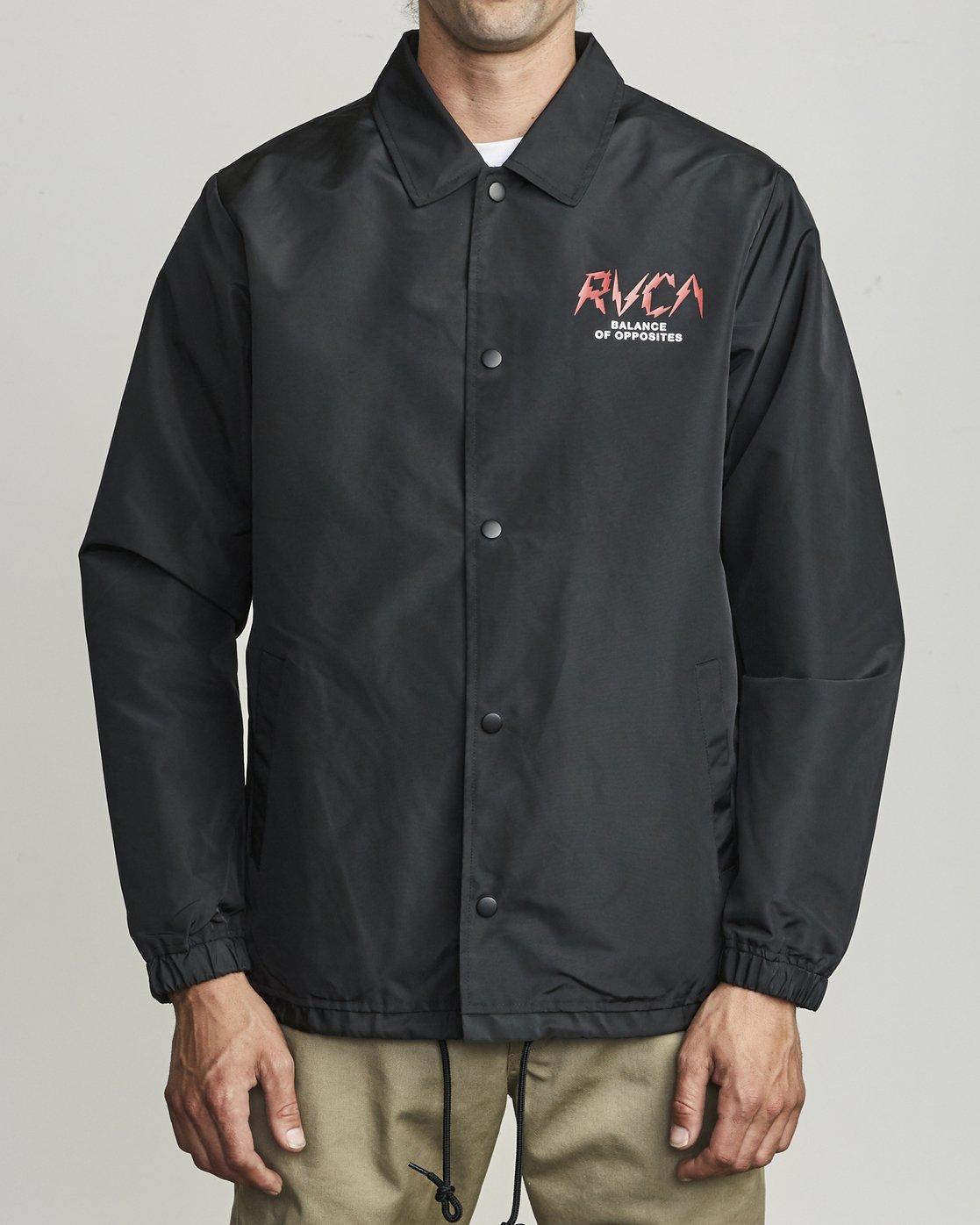 2 Berni Coaches  - Coaches Jacket for Men Black S1JKRDRVP0 RVCA