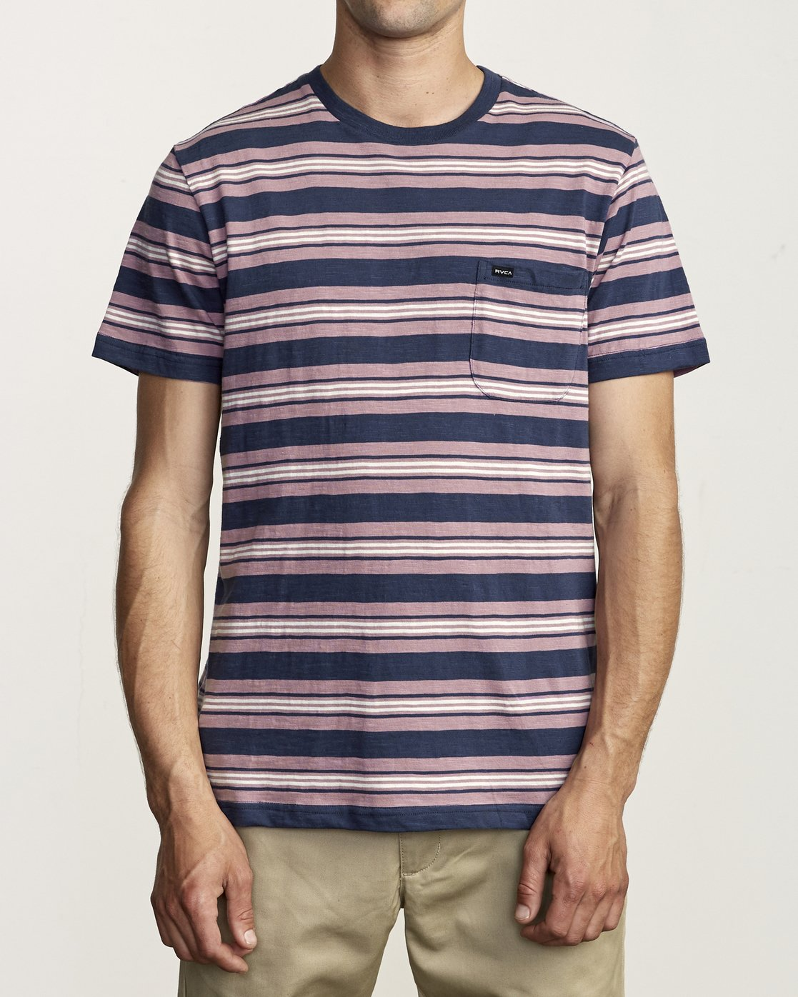 1 Damian - Striped T-Shirt for Men  S1KTRARVP0 RVCA