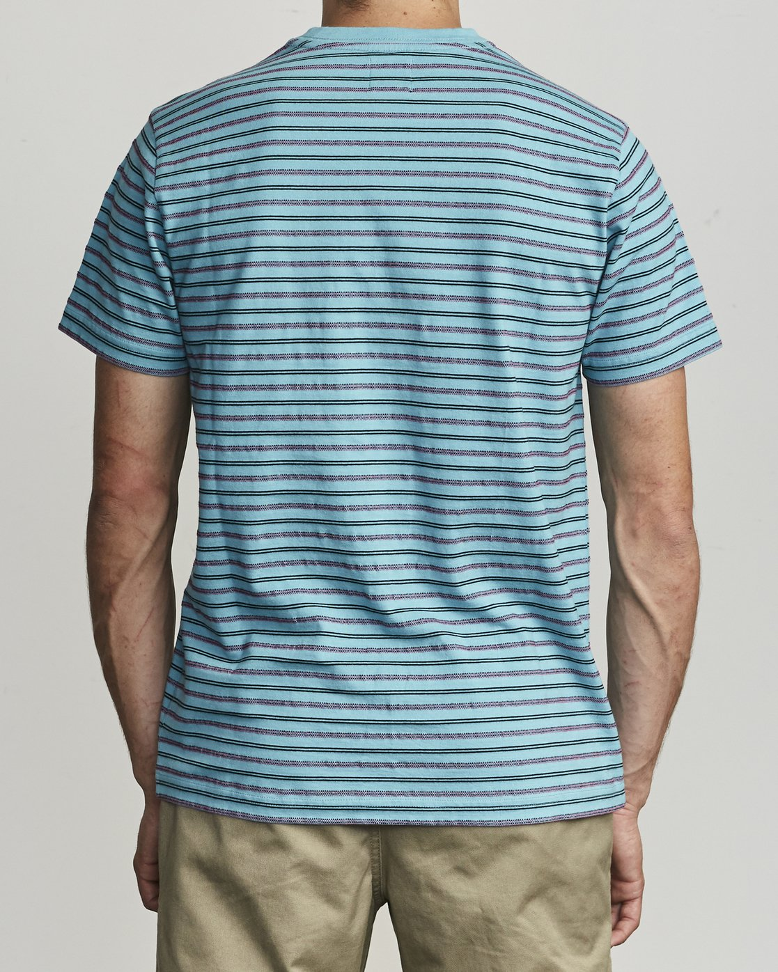 1 Runaway - T-Shirt à rayures pour Homme Bleu S1KTRDRVP0 RVCA