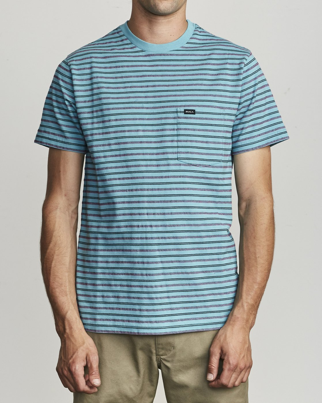 0 Runaway - T-Shirt à rayures pour Homme Bleu S1KTRDRVP0 RVCA